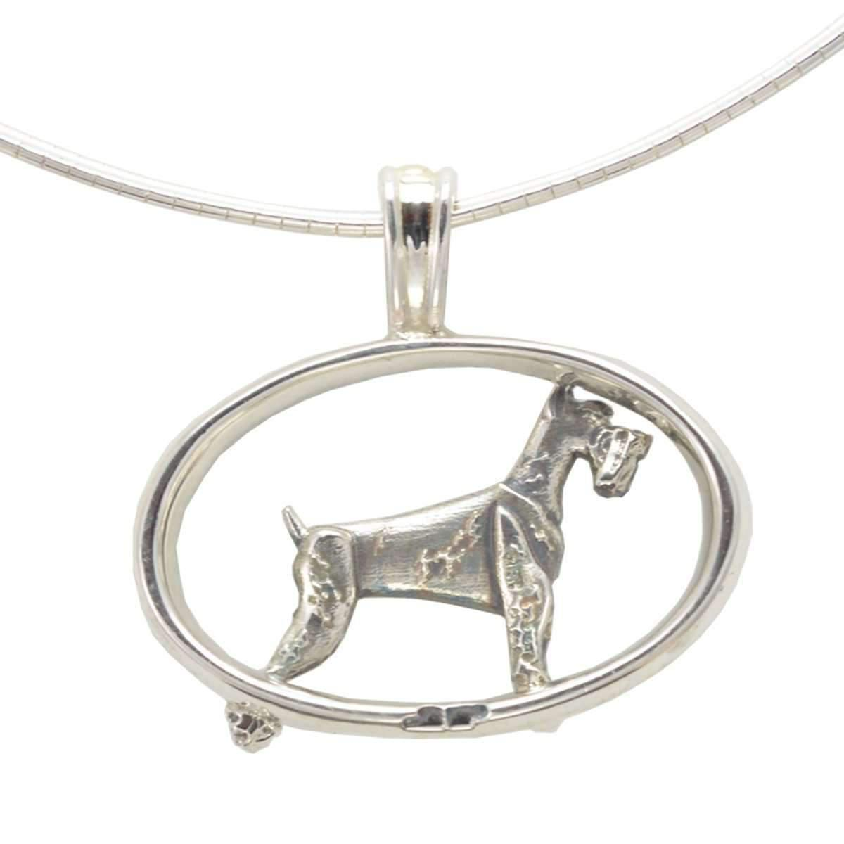 Donna Pizarro Designs Sterling Silver Giant Schnauzer Necklace 9aVlK