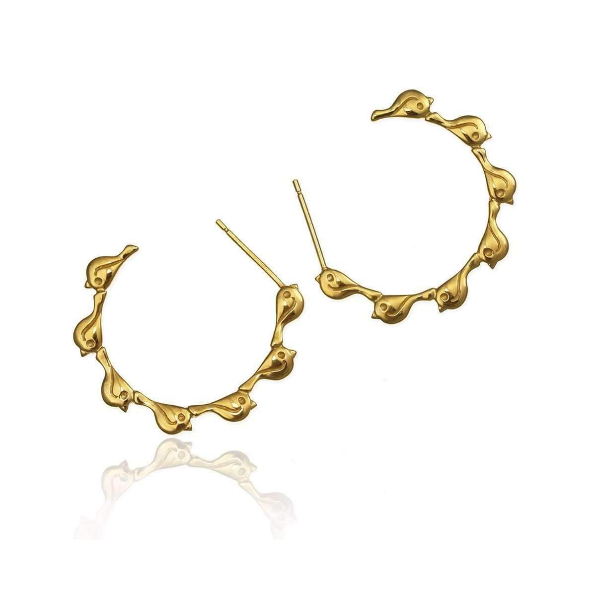 Jana Reinhardt Yellow Gold Plated Banana Stud Earrings Sm6sNNQFKR