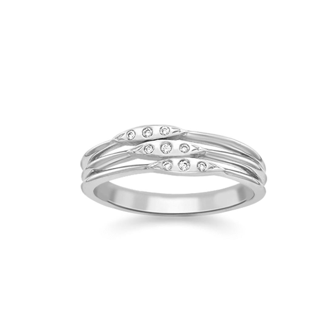 London Road Jewellery Portobello White Gold Diamond Velvet Leaf Single Row Ring 5KuoHbNBR