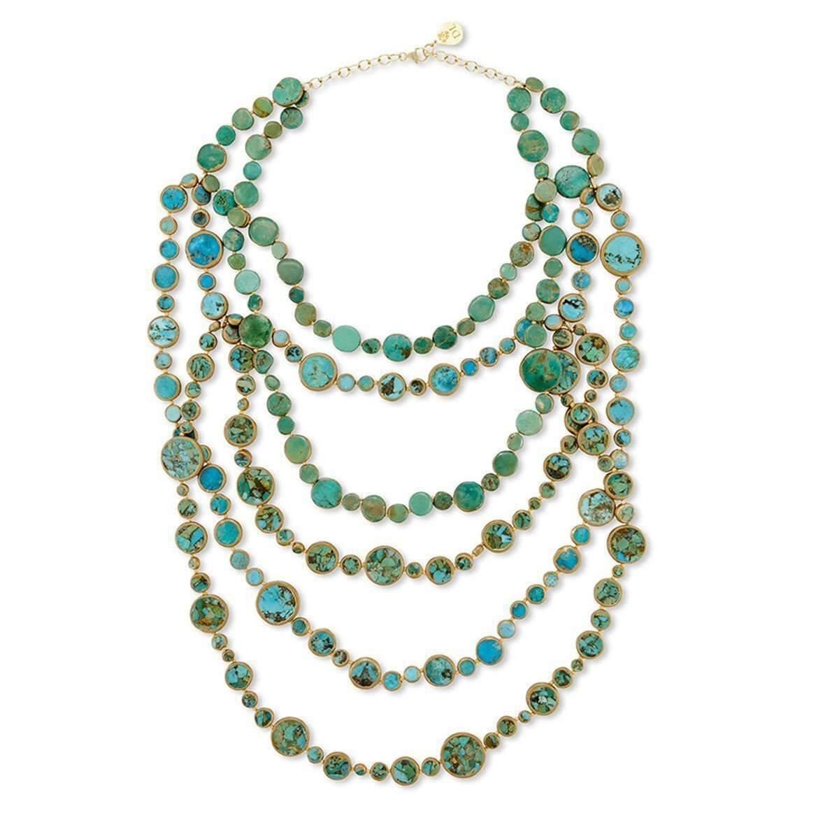 Devon Leigh Multi-Strand Turquoise Necklace JHwrRLP