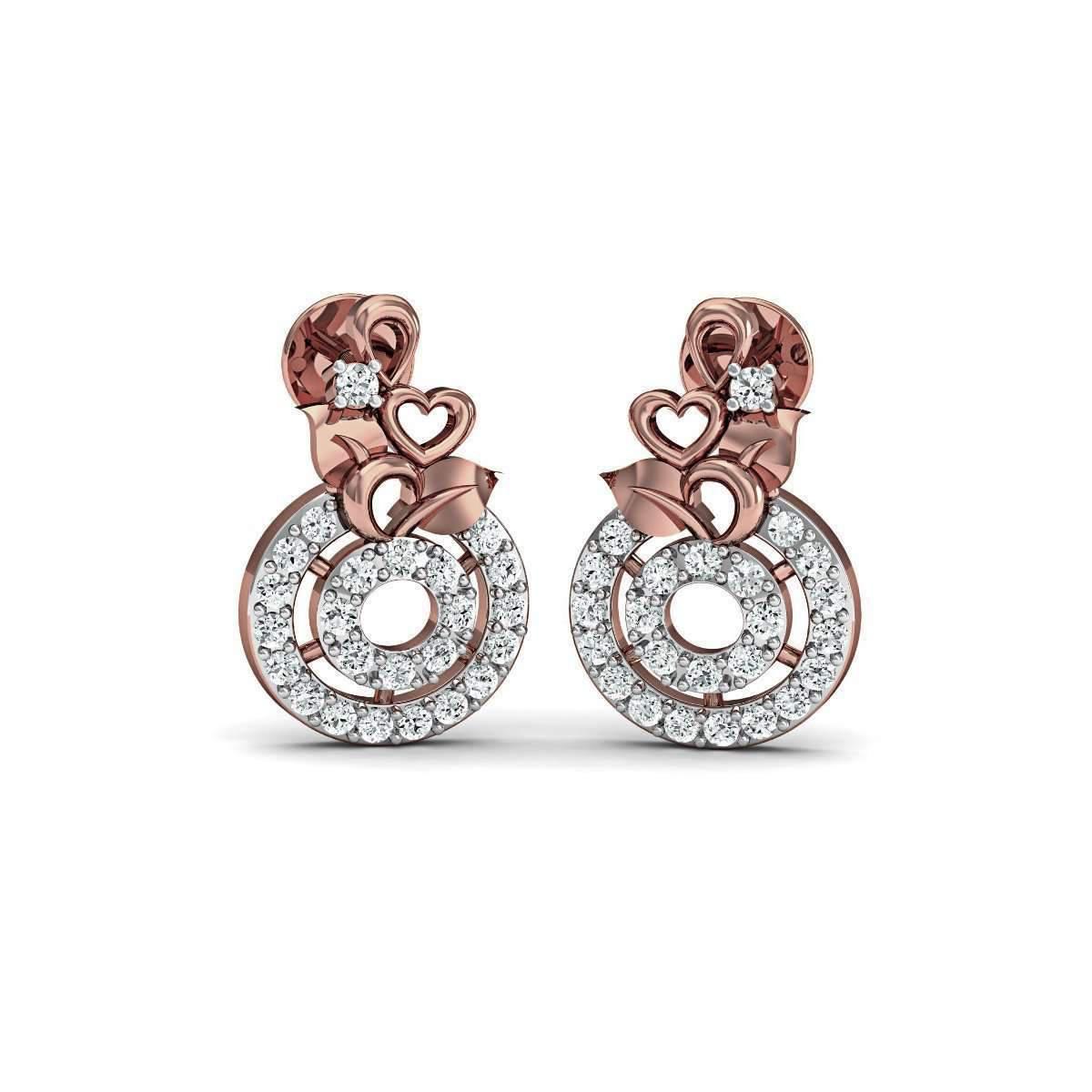 Diamoire Jewels Thrilling 18kt Rose Gold Diamond Studs MYe0SJwM