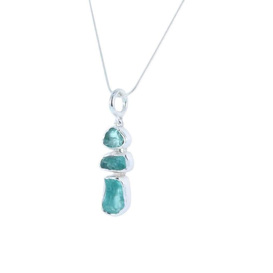 Reeves and reeves rough stone apatite pendant necklace lyst reeves and reeves womens rough stone apatite pendant necklace mozeypictures Images