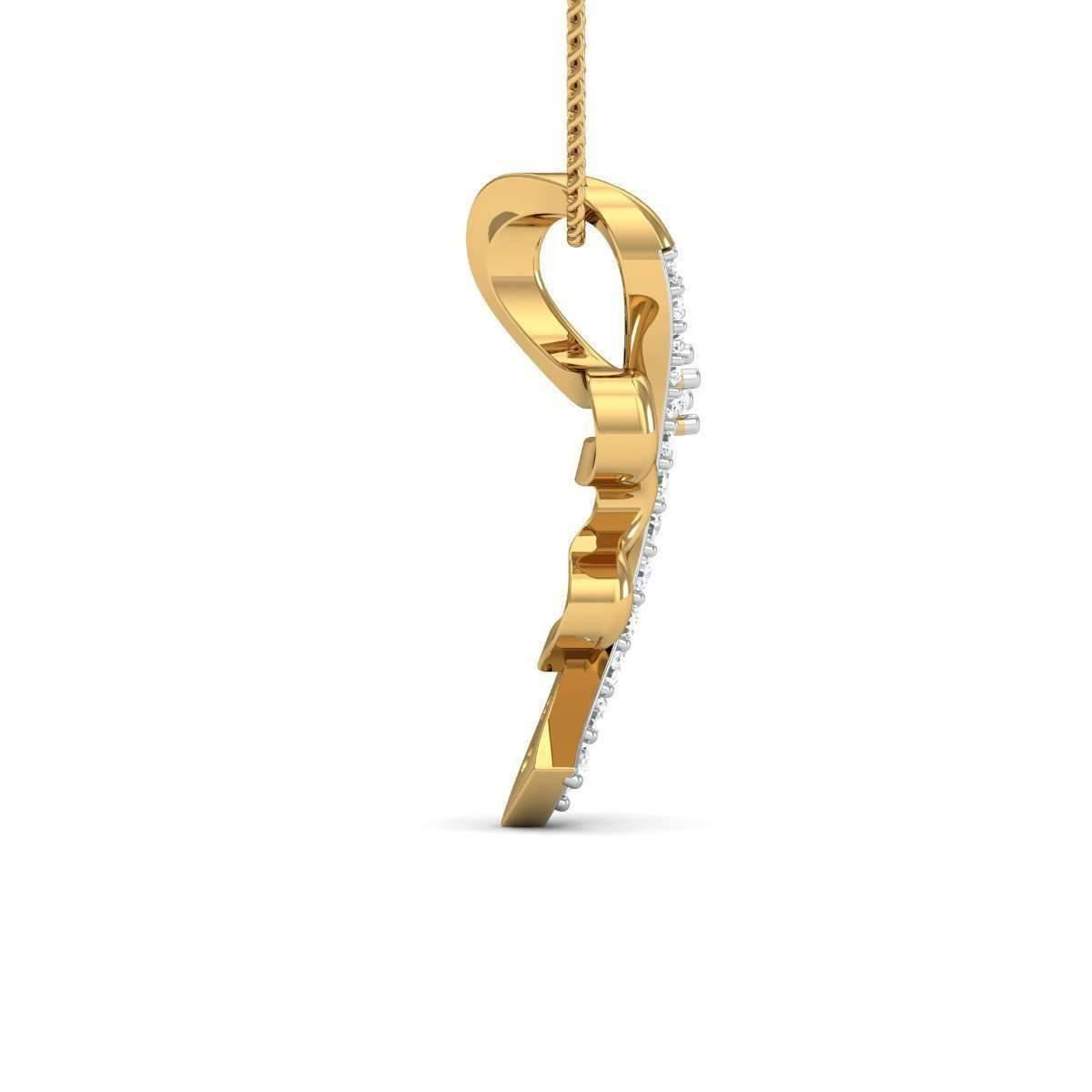 Diamoire Jewels Beauteous Diamond Pendant in 18kt Yellow Gold 8TNKHKa
