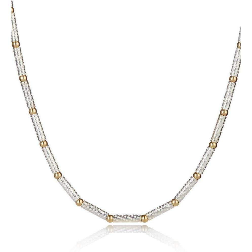 Lavan Gold & Sterling Silver Links Pendant - 16 Inches jCupc9