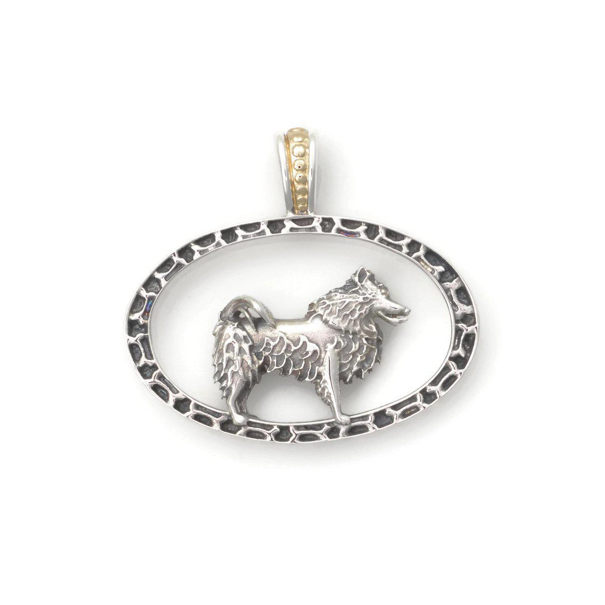 Donna Pizarro Designs Sterling Silver American Eskimo Necklace With 14kt Accent lg0zAE22di