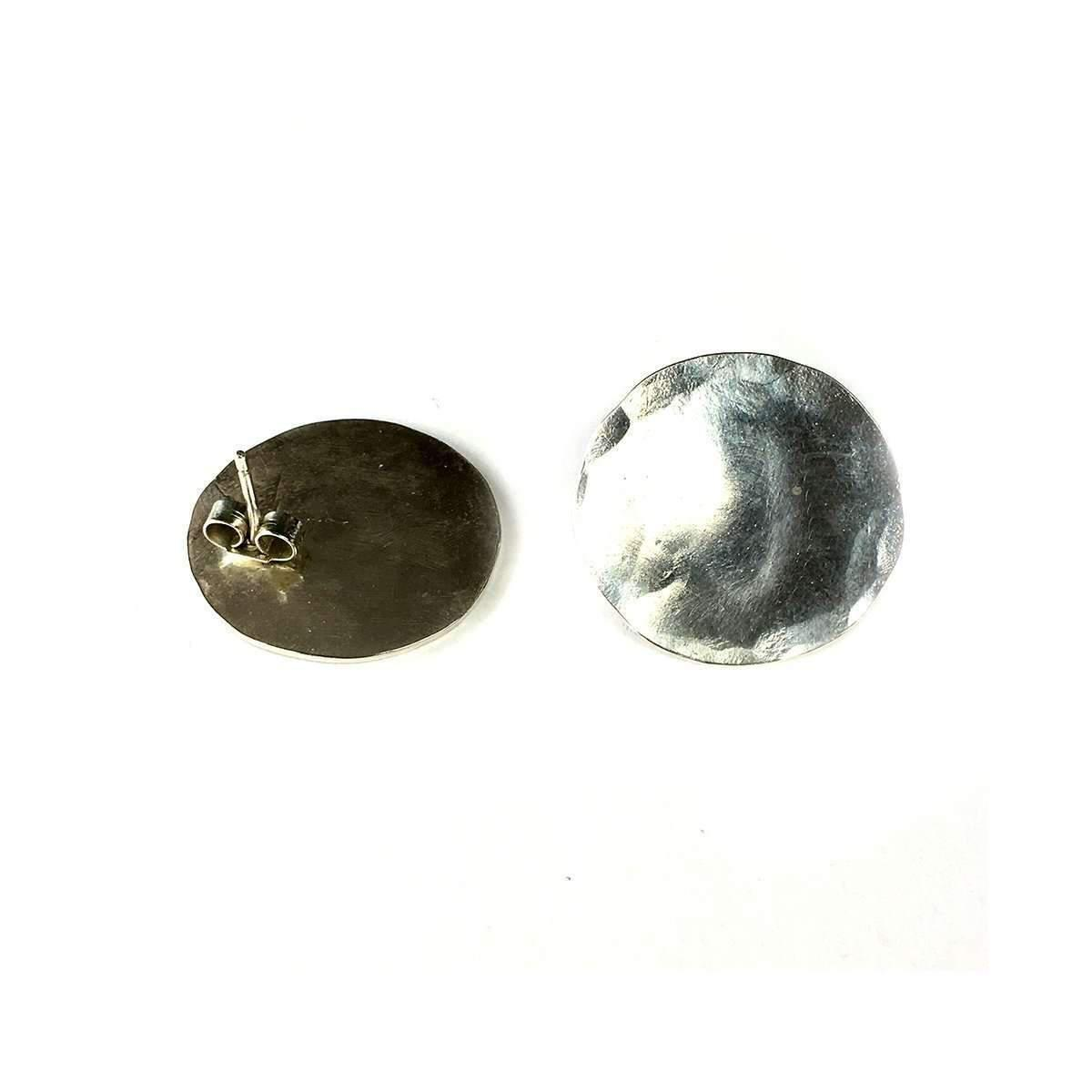 Fran Regan Jewellery Small Silver Discus Studs