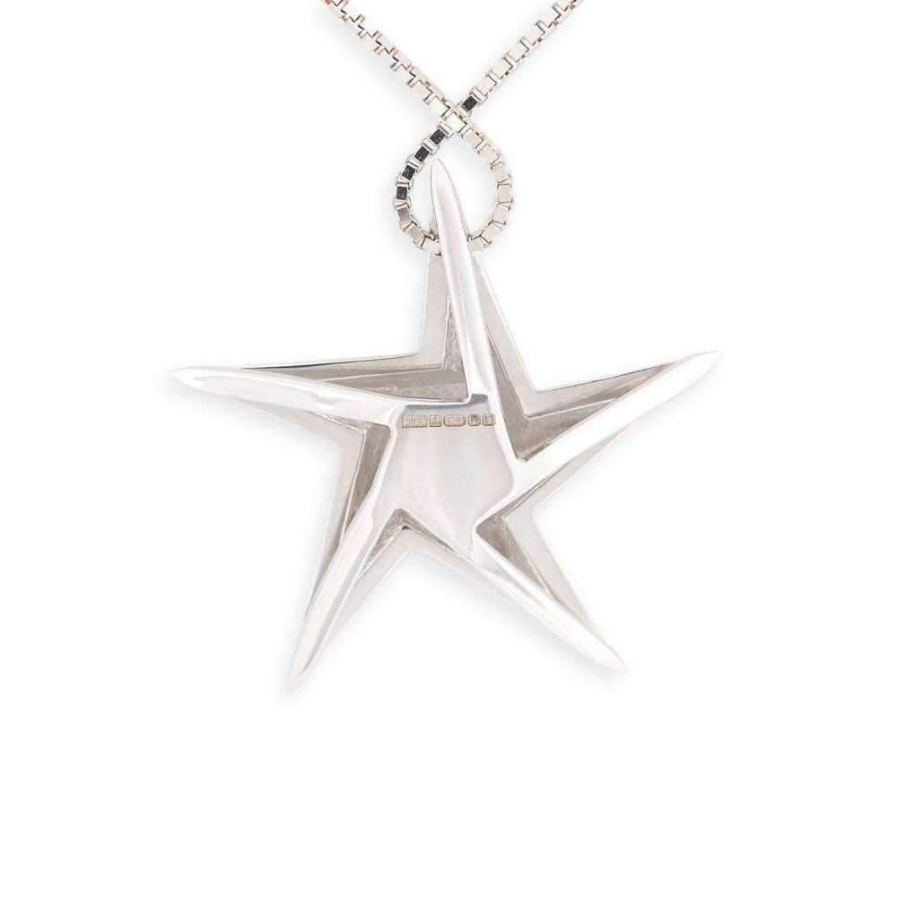 Daou Jewellery 18kt Gold & Black Diamond Black Hole Star Pendant - 16 CHOh5fyGG