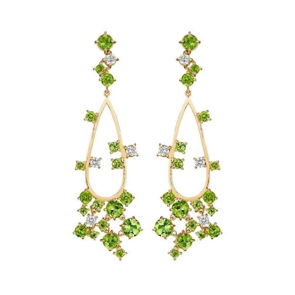 Madstone design melting ice peridot chandelier earrings in green featured madstone design green melting ice peridot chandelier earrings mozeypictures Choice Image