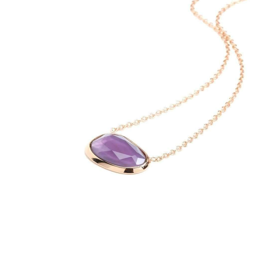 Rina Limor Sunrise Purple Crystal with Zircon Pendant Necklace BsU2HnvL