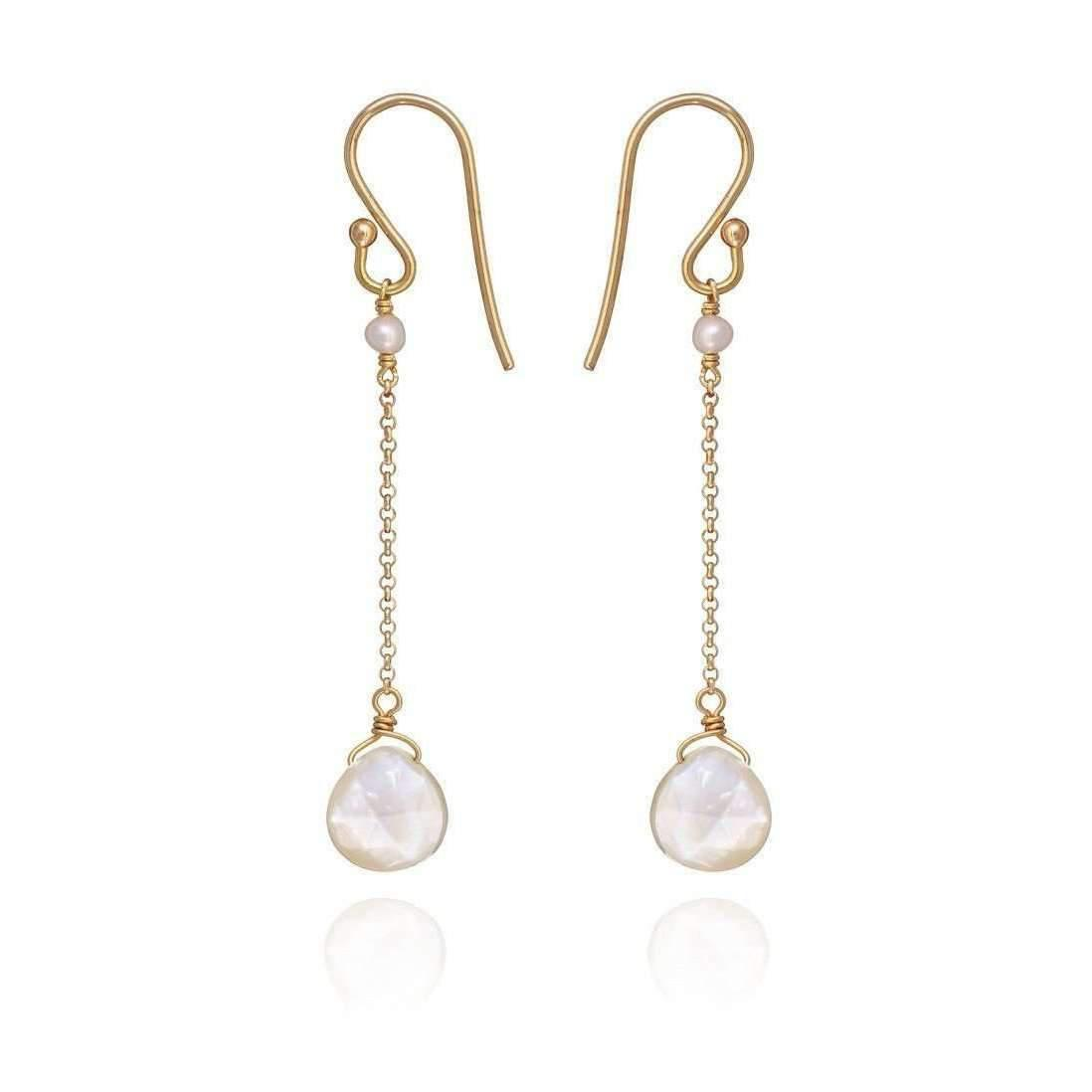 Perle de lune Drop Earrings With Amethyst Amethyst 18kt Gold 3YeUqfPkVR