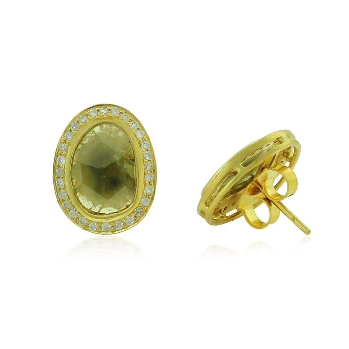 Socheec Exotic Diamond Stud Earrings zdI2v