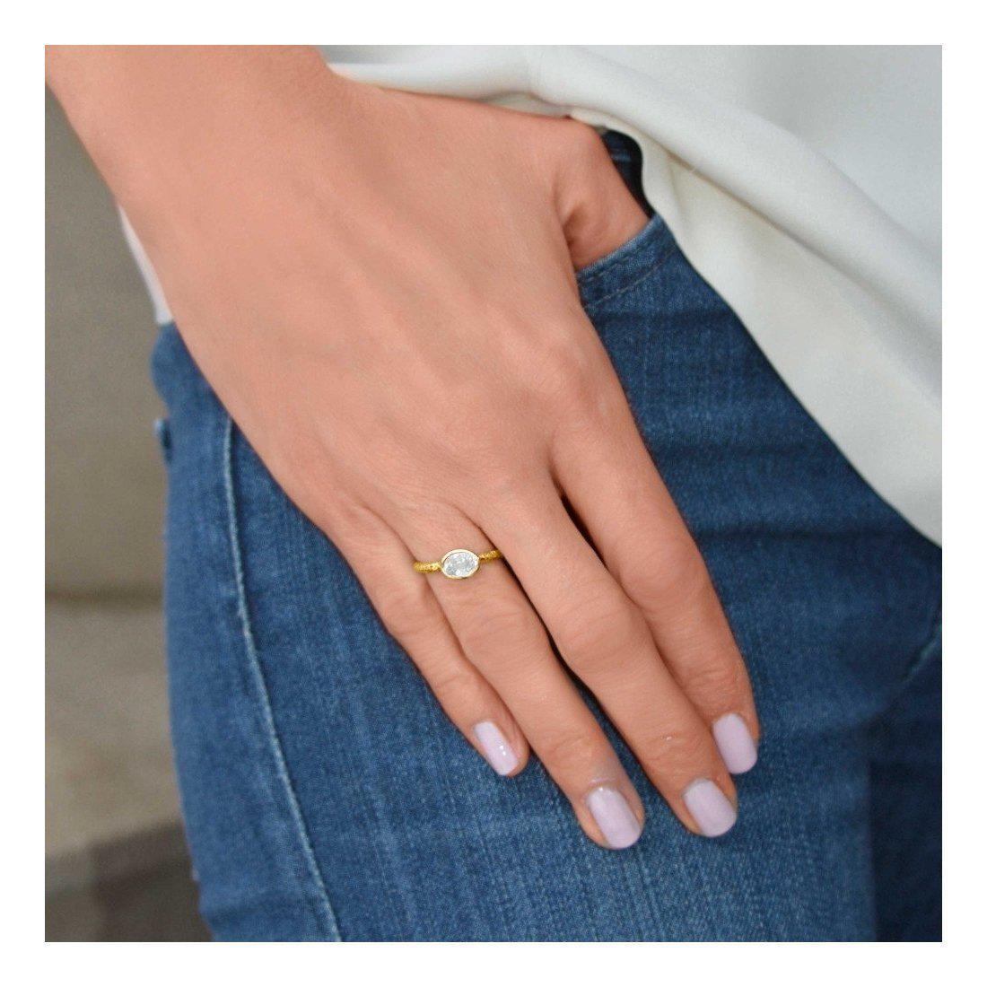 Susan Wheeler Design White Sapphire Ring