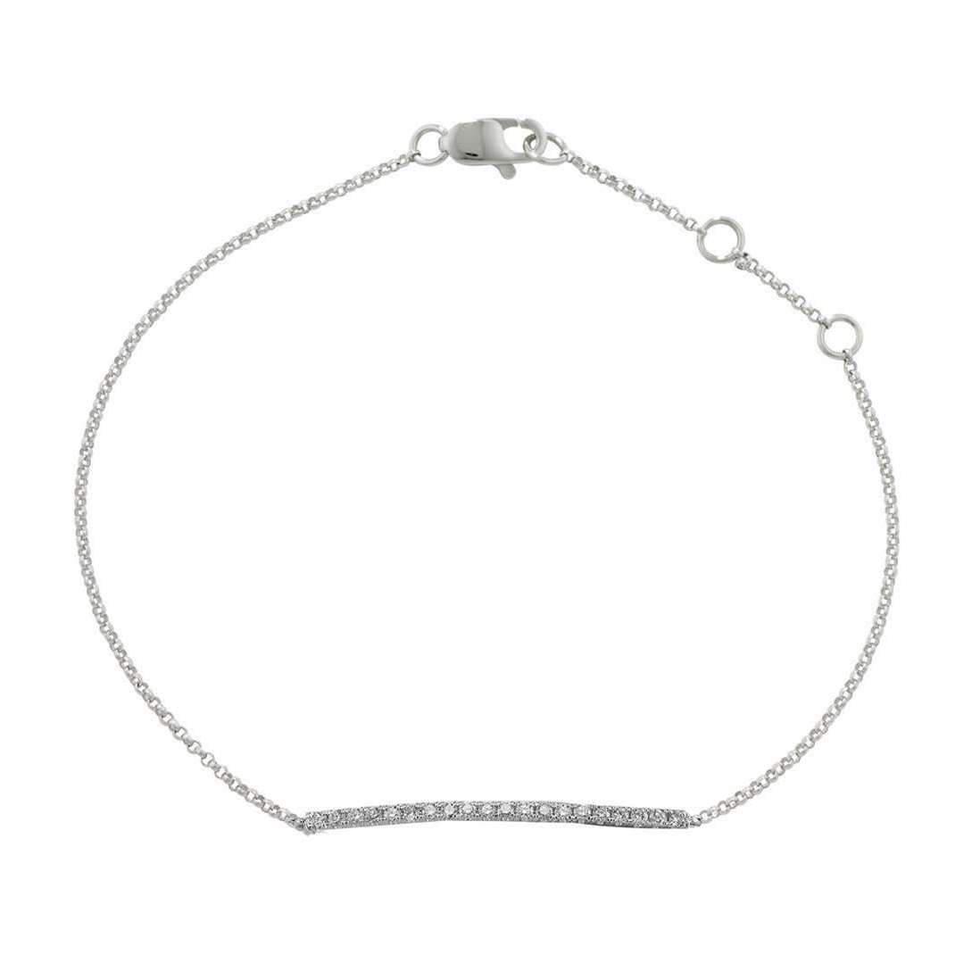 London Road Jewellery Portobello White Gold Diamond Geo Bracelet QB4Clw6Y