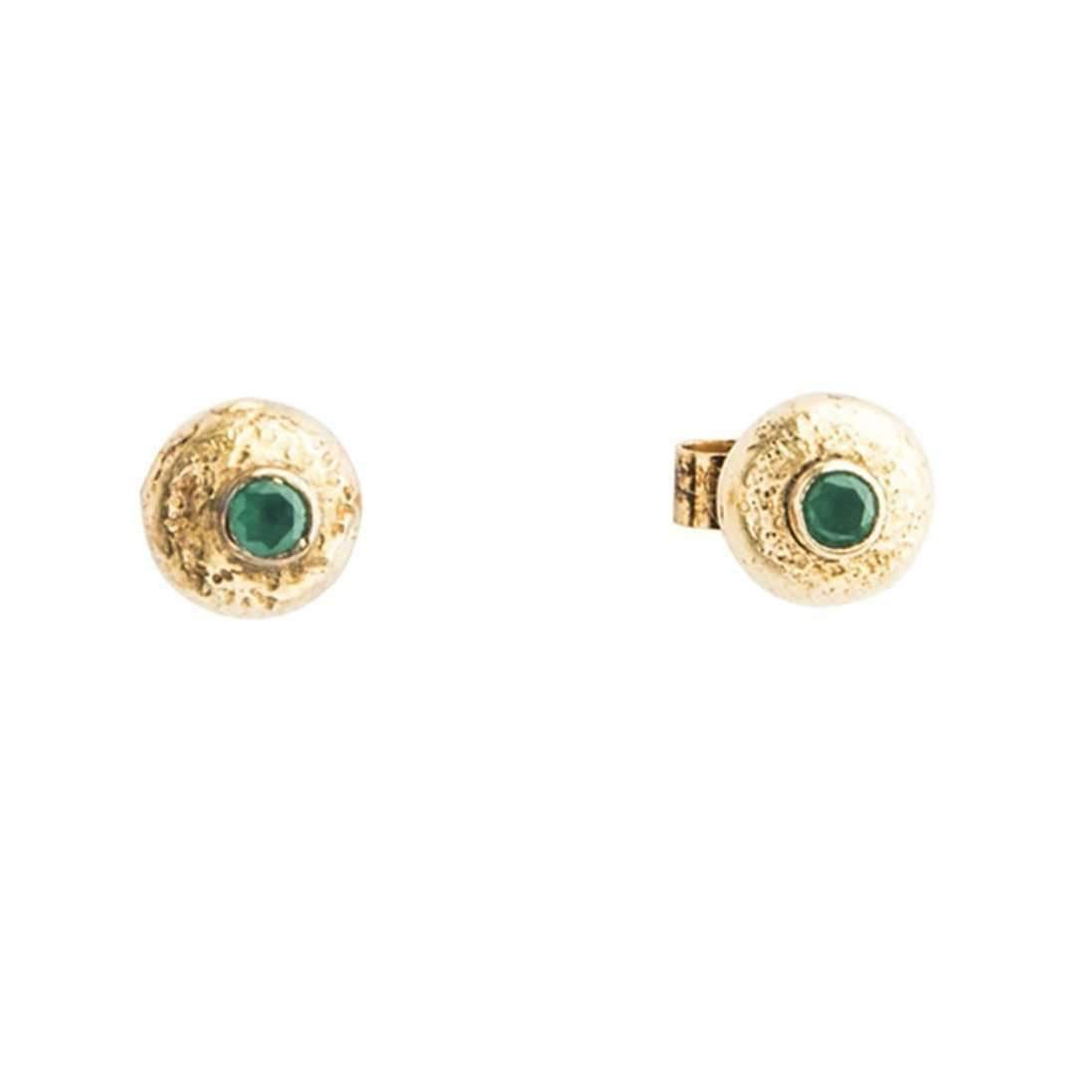 Becky Dockree Small Gold Stud Earrings K8LiS5X