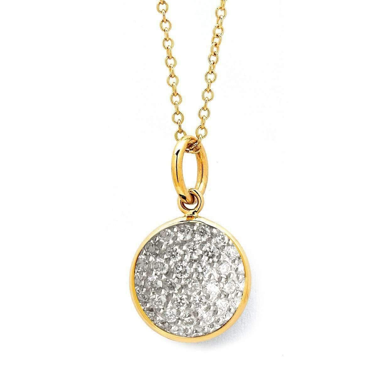 Syna 18kt Small Drop Necklace With Black Diamonds GKikO
