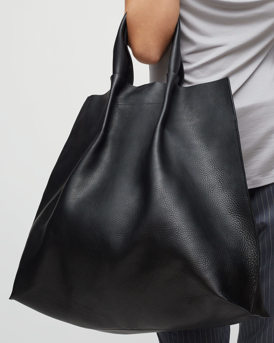 Jigsaw Leather Leonie Lux Tote in Black