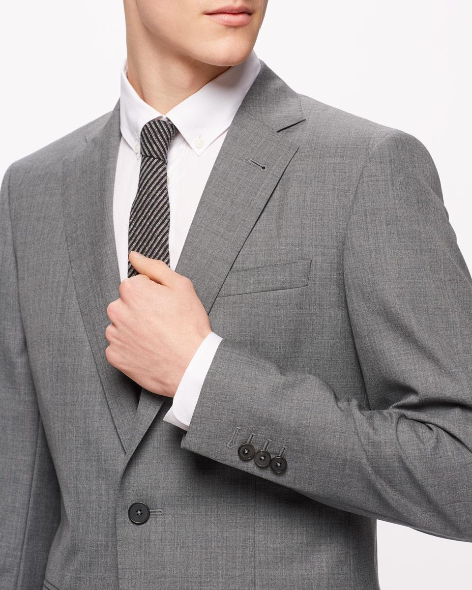 Jigsaw Wool Bloomsbury Italian Slim Fit Suit Jacket in Grey Melange (Grey) for Men