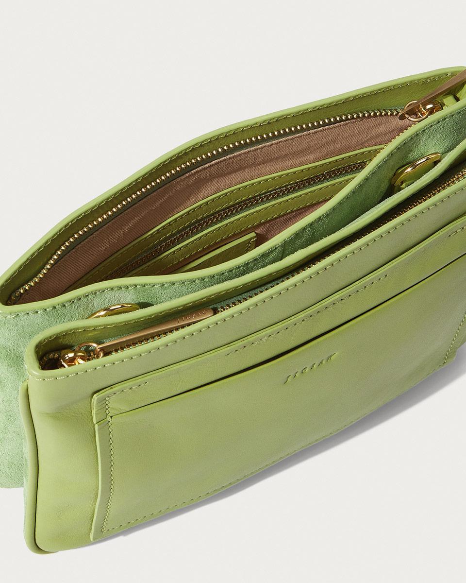 f1f5f3f3dce Jigsaw Tanvi Double Gusset Crossbody Bag in Green - Lyst