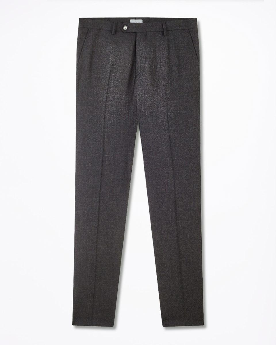 Jigsaw Unstructured Super 110's Italian Wool Trouser in Graphite (Grey) for Men