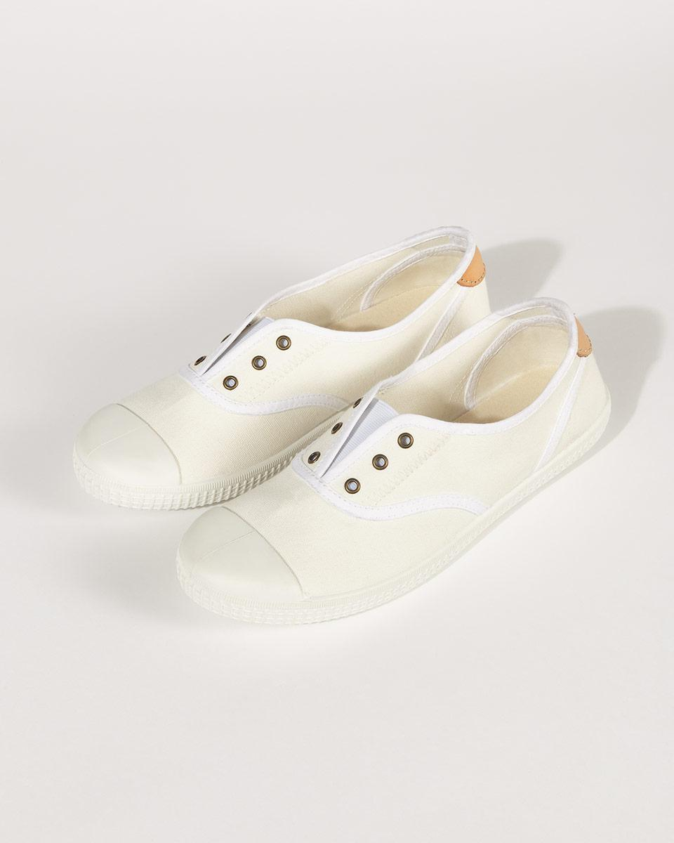 Jigsaw Libby Canvas Plimsoll in White