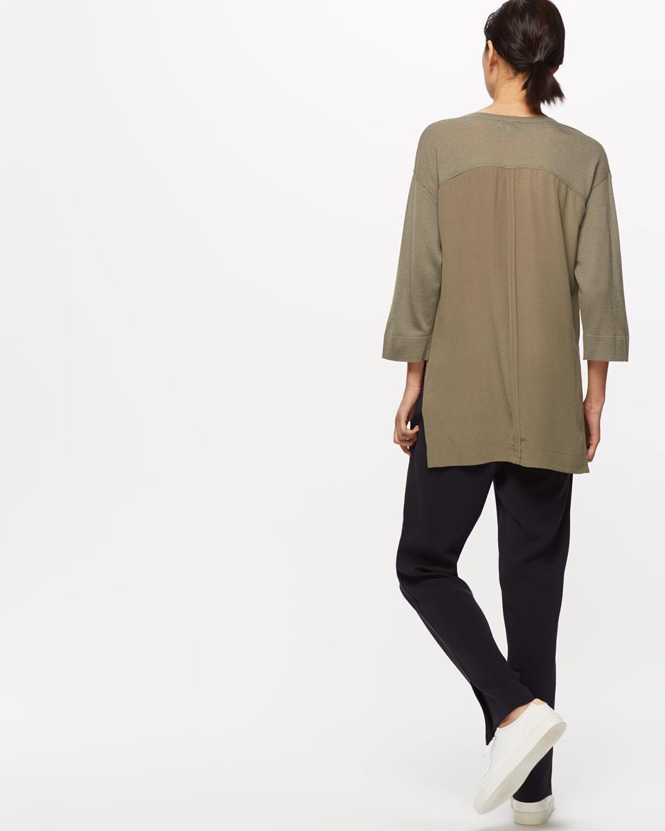 Jigsaw Silk Back Tunic in Natural