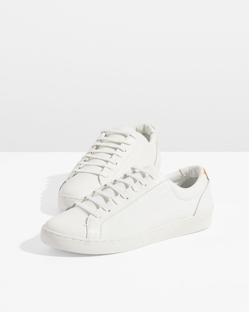 Jigsaw Leather Amour Lace Up Trainer in