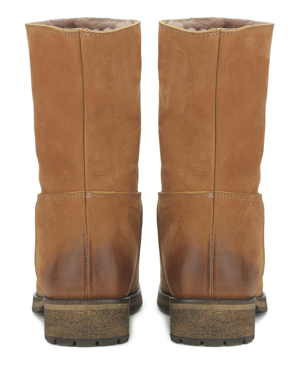 Jigsaw Leather Georgia Shearling Outdoor Boot in Tan (Natural)