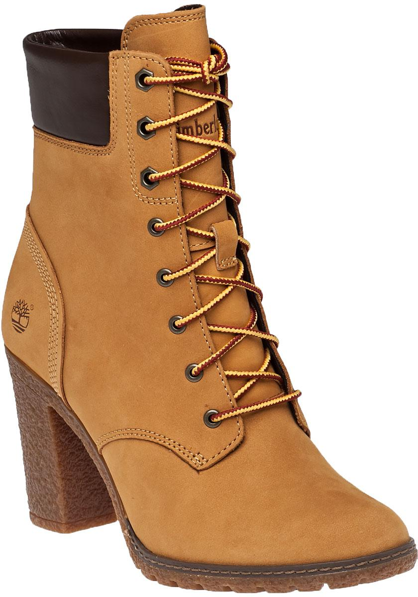 Timberland Glancy Suede Ankle Boots In Natural Lyst
