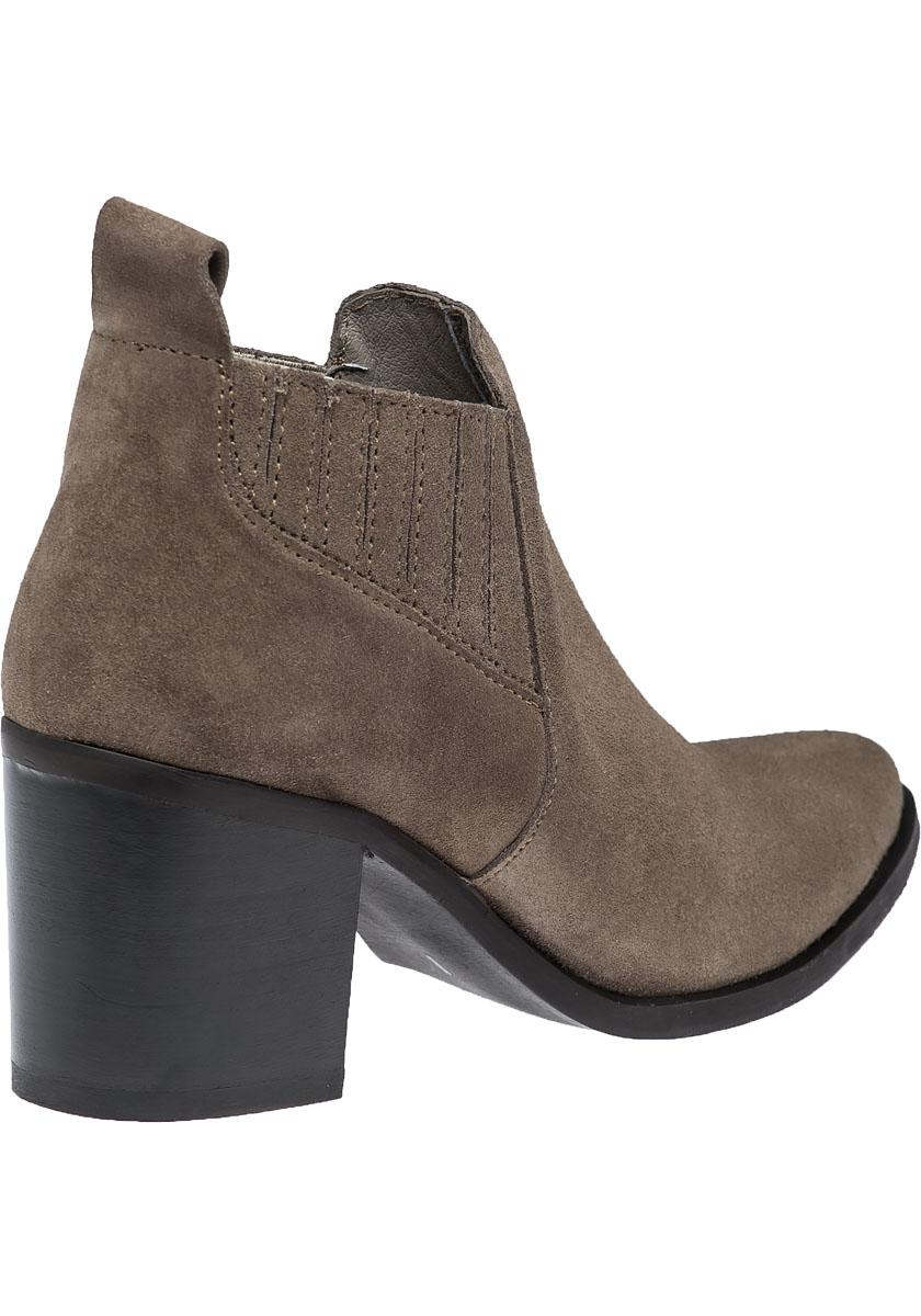 68502006560 Steve Madden Brown Pauze Taupe Suede Ankle Bootie