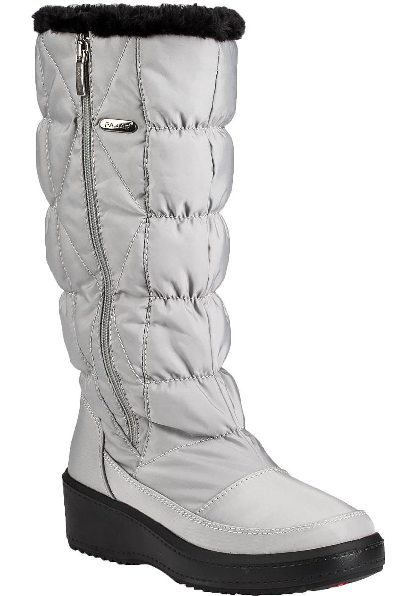 Pajar Alexandra Faux Fur Trimmed Snow Boots In Metallic Lyst