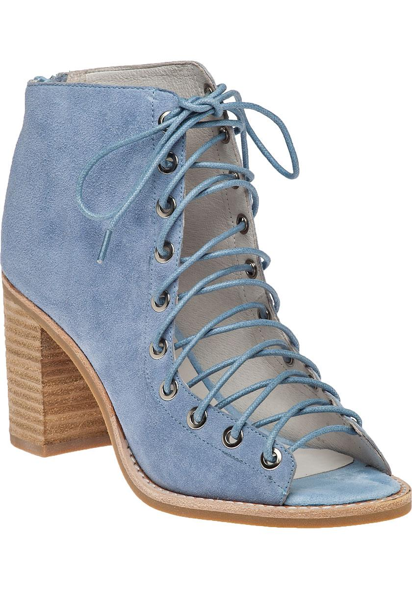 Cors Lighting: Jeffrey Campbell Cors Suede Ankle Boots In Blue