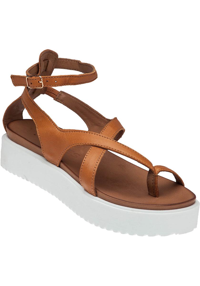 Lyst J Slides St Vincent Tan Leather Platform Sandals