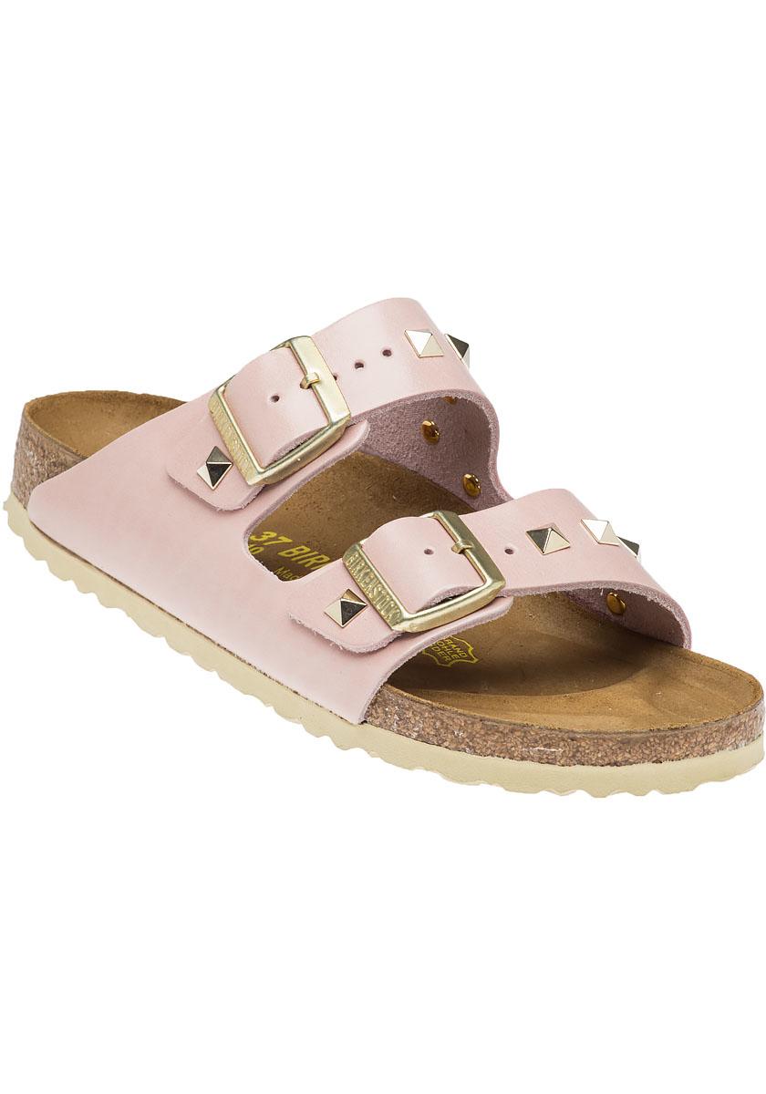 birkenstock arizona rose studded sandal in pink lyst