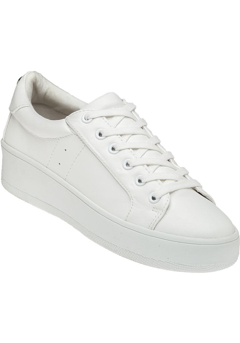 Steve madden bertie white sneaker in white lyst