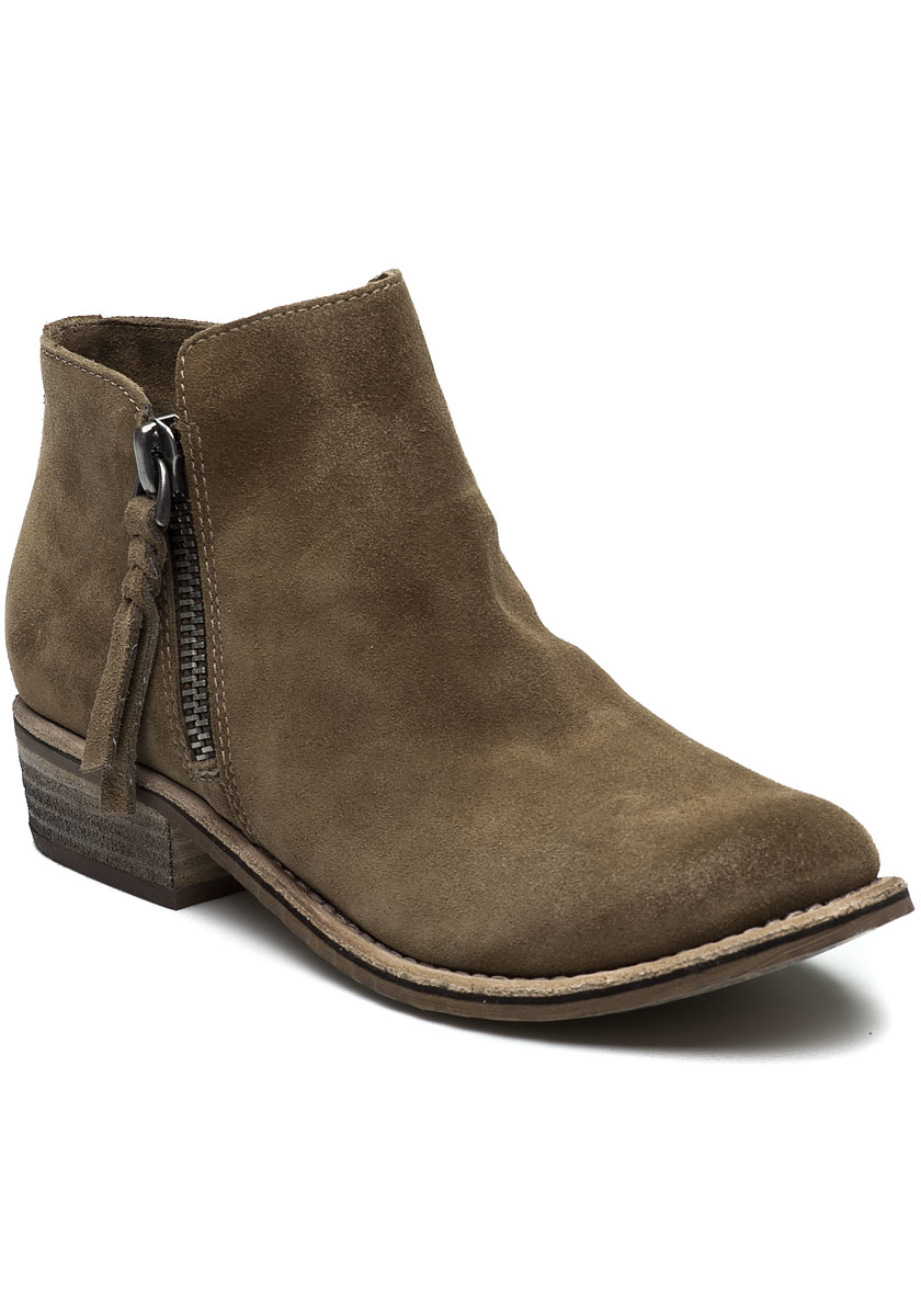 dolce vita sutton khaki suede boot for lyst