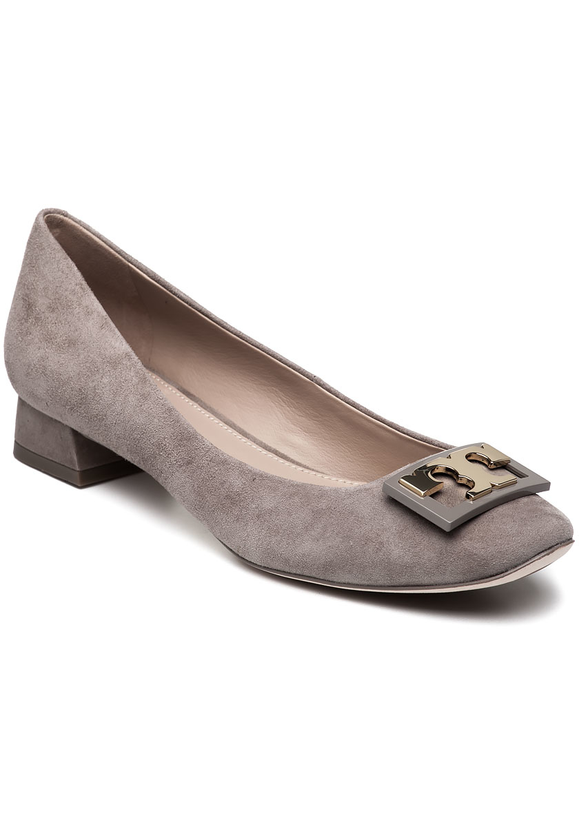 Tory Burch Gigi French Grey Suede Court Shoes In