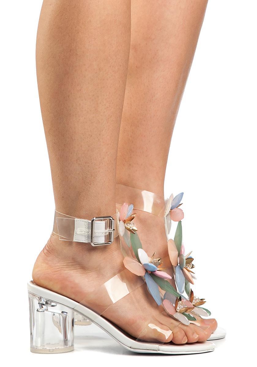 Lyst Jeffrey Campbell Viola Clear Embellished Sandal