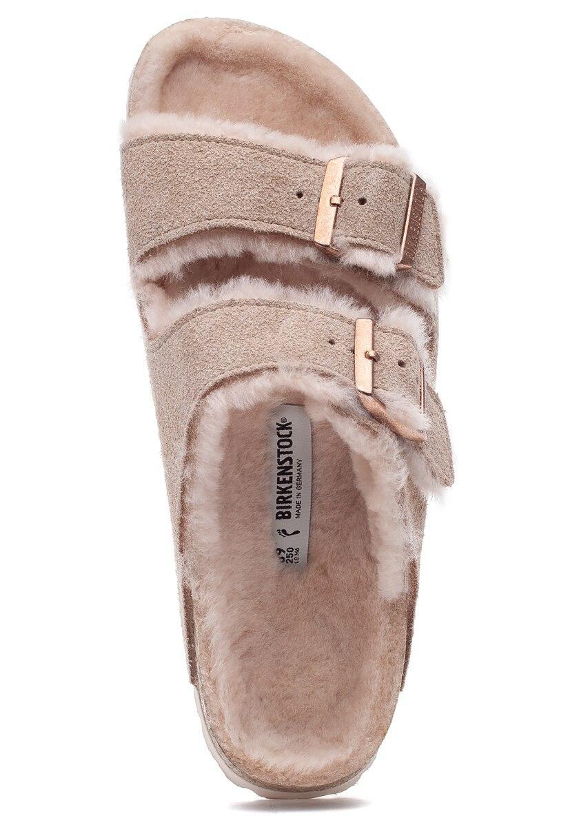 Birkenstock Arizona Shearling Sandals Nude Nude - Sandals