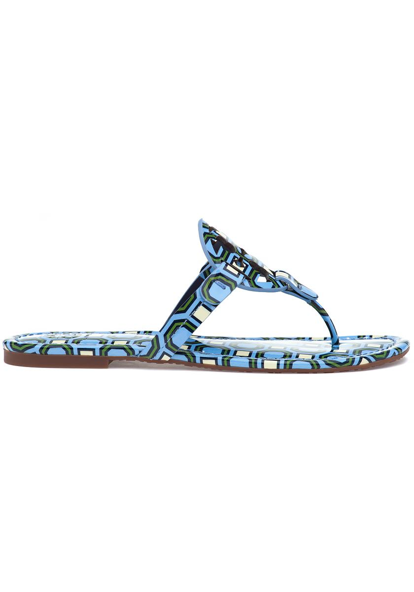 d2822cec912bc2 Lyst - Tory Burch Miller Sandal Light Chambray Octagon in Blue