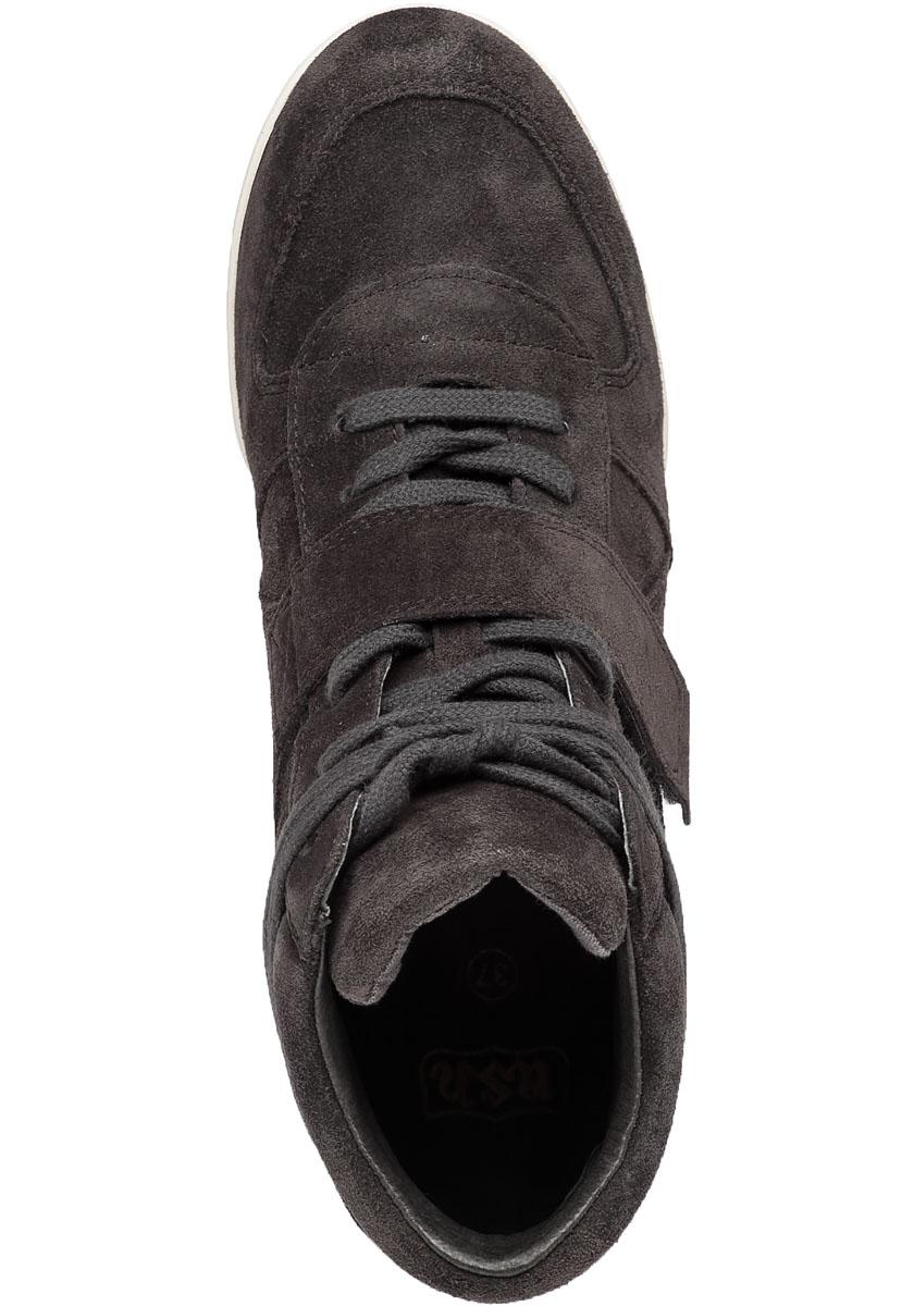 a11520d71b57 Lyst - Ash Bowie Bistro Suede Wedge Sneakers in Black