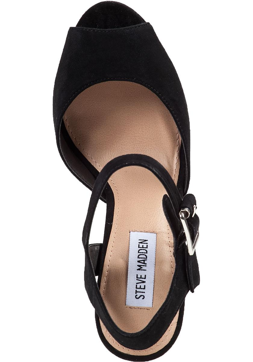 05e01c00ca73 Steve Madden Jillyy Platform Sandal Black Suede in Black - Lyst