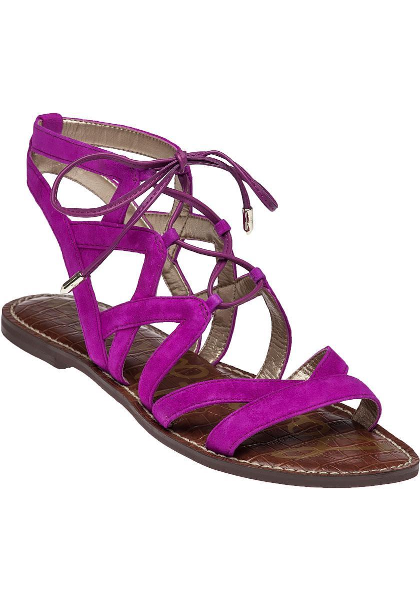 9636ba3c9b0 Lyst - Sam Edelman Gemma Suede Gladiator Sandals in Purple