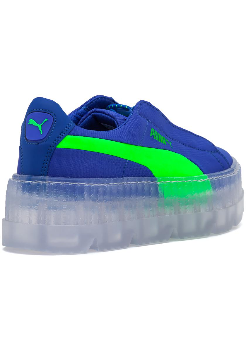 brand new 1291f cce28 Women's Fenty X Puma Cleated Creeper Sneaker Blue-green Gecko