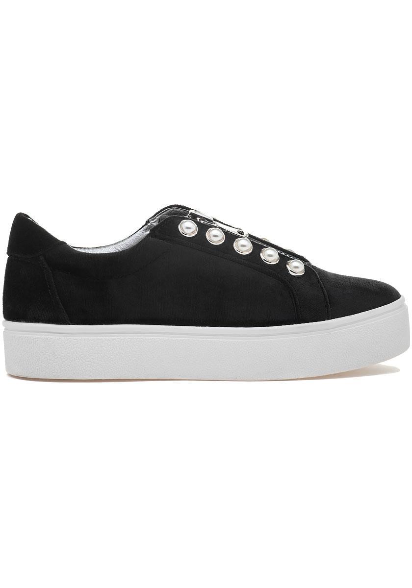 1986d064a17 Lyst - Steve Madden Lynn Slip On Sneaker Black Velvet in Black