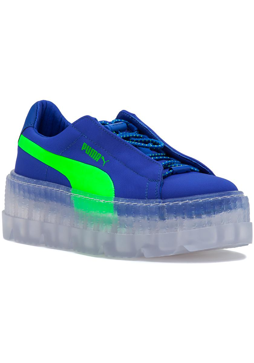 brand new 26e9e f2059 Women's Fenty X Puma Cleated Creeper Sneaker Blue-green Gecko