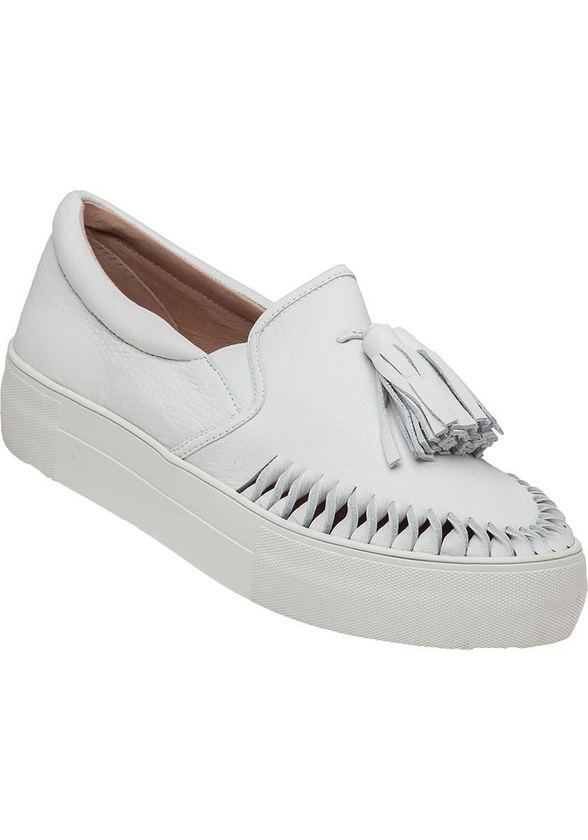 J/Slides Aztec Leather Slip-Ons in