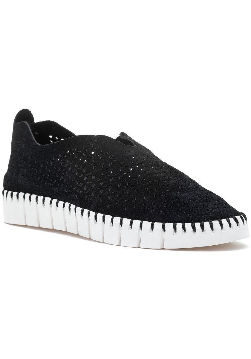 43f24e3cddf3 Lyst - Jeffrey Campbell Tiles Slip On Sneaker Black Suede in Black