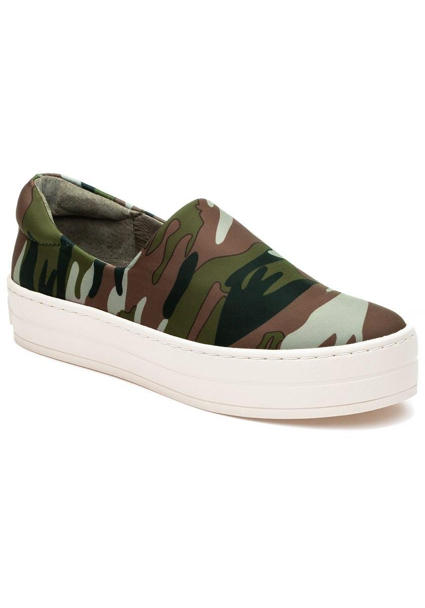 J Slides Synthetic Harlow Sneaker Green Camo Lyst