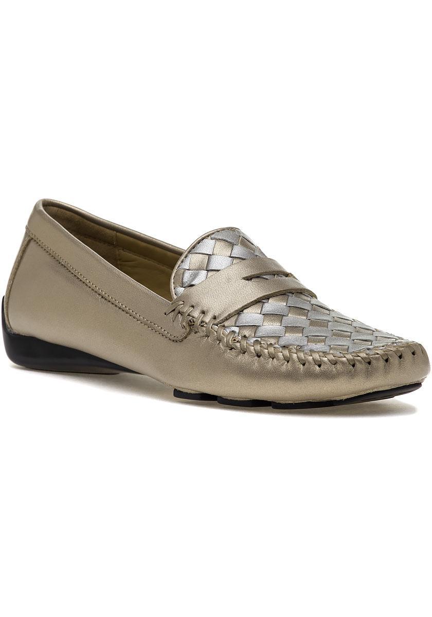 526c0e8940b Lyst - Robert Zur Petra Loafer True Gold   True Silver Leather in ...