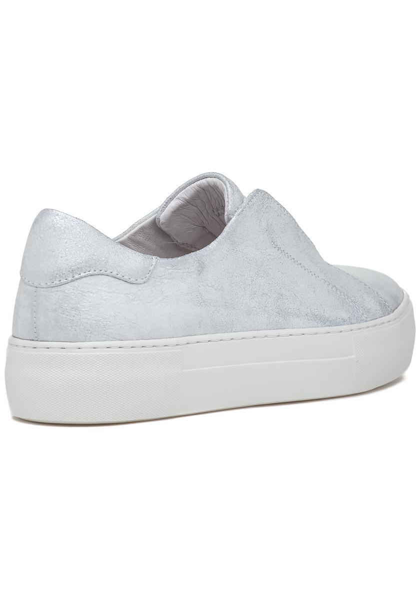 JSLides ALARA Black Leather Laceless White Sole Loafer Platform Sneakers